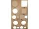 V-TAC Falon kívüli LED panel (kör alakú) 12W - mattkróm - hideg f.