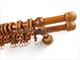 GARDINIA Duo 28 mm fa karnis, kétsoros, cseresznye, 180 cm