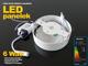 Falon kívüli kör LED panel (120 mm) 6W - természetes fényű