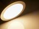 V-TAC Króm LED panel (kör alakú) 18W - meleg fehér