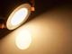 V-TAC Króm LED panel (kör alakú) 6W - meleg fehér