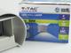 V-TAC Pegasi kültéri lámpatest, szürke, kör (6W BL) meleg fehér Kifutó!