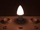 V-TAC LED lámpa E14 (6W/180°) Gyertya - meleg fehér DIM