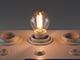 Philips E14 LED izzó Retro filament (2W/300°) Kisgömb - meleg fehér
