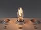 INESA LED lámpa E14 Filament (2W/300°) Gyertya - meleg fehér