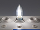 V-TAC LED lámpa E14 Filament (4W/300°) Gyertya - hideg fehér - Utolsó darabok!
