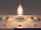 V-TAC E14 LED izzó Retro filament (4W/300°) Gyertya - meleg fehér