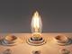 INESA LED lámpa E14 Filament (4W/300°) Gyertya - meleg fehér