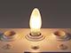 V-TAC LED lámpa E14 Filament (4W/300°) Gyertya opál - meleg f.