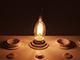 V-TAC E14 LED izzó Retro filament (4W/300°) Csavart gyertya láng - meleg fehér