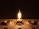 V-TAC LED lámpa E14 Filament (4W/300°) Láng cs. - meleg fehér DIM