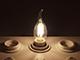 V-TAC E14 LED izzó Retro filament (4W/300°) Gyertya láng - természetes fehér