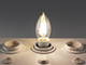 MODEE LED lámpa E14 Filament (4W/360°) Gyertya - természetes fehér