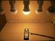 LED lámpa E27 (COB 3016x20/9W/180°) meleg fehér