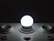 V-TAC E27 LED lámpa (3W/180°) Kisgömb - hideg fehér