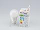 V-TAC E27 LED lámpa (9W/200°) Körte A58  meleg fehér, PRO Samsung