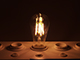 V-TAC LED lámpa E27 Filament (4W/300°) ST64 - meleg fehér, dimm.