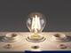 MODEE LED lámpa E27 Retro filament (6W/360°) Körte - természetes fehér