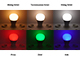 MiLight LED lámpa E27 (9W/220°) Körte - RGB+CCT, FullColor - távirányítható