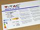 V-TAC LED panel (1200 x 300mm) 29W - meleg fehér (120+lm/W) A++