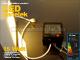 Falon kívüli négyzet LED panel (170 mm) 15W - meleg