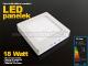 Optonica Falon kívüli négyzet LED panel (220 mm) 18W - természetes