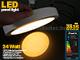 Falon kívüli kör LED panel (300 mm) 24W - meleg fényű