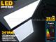 Falon kívüli négyzet LED panel (300 mm) 24W - hideg fényű