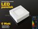 Optonica Falon kívüli négyzet LED panel (120 mm) 6W - meleg fényű