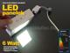 Optonica Falon kívüli négyzet LED panel (120 mm) 6W - hideg fényű