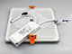 V-TAC Keret nélküli LED panel (szögletes) 15W - meleg fehér