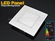LED panel (120 mm) 6W (négyzet) hideg fehér, süllyeszth.