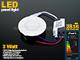 Mini kör LED panel (85 mm) 3W - meleg fehér