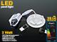 Optonica Mini kör LED panel (85 mm) 3W - természetes fehér