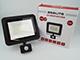 Asalite LED reflektor (50W/120°) - fekete - 6500K - mozgásérzékelős
