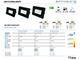 Optonica - SMD2 LED reflektor fekete (20W/100°) - Természetes fehér