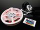V-TAC LED szett beltéri: 5 méter RGB+vezérlő+tápegység 5050-30