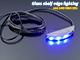 RS Üveglap világító LED: Clip (0.24W) - Kék