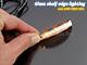RS Üveglap világító LED: Clip (0.24W) - Sárga