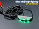 RS Üveglap világító LED: Clip (0.24W) - Zöld