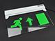 Novelite LED vészvilágító lámpatest - felfelé mutató nyíllal