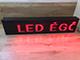 LEDTech Világító LED reklámtábla - fényújság, USB (P10 Fehér) 32x192 cm