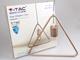 V-TAC Line-T fém függőlámpa (E27) - pezsgőarany színű bura