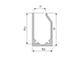 Lumines Type-I10 Végzáró üveglap szorító alu profilhoz - függesztéshez - bal oldali