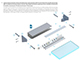 Lumines Type-I10 Alu üvegszorító profil ezüst - világító plexi / üveg tábla készítéséhez