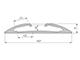 Lumines Reto Alu profil jobb oldali végzáró és sarokelem, 15°-os, ezüst Kifutó