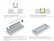 Lumines Type-G - Alu süllyeszthető U profil LED szalaghoz, opál burával
