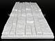 ANRO - Marbet Rock EPS hungarocell falburkoló (48cm x 18cm) - fehér, festhető