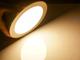 V-TAC Mattkróm LED panel (kör alakú) 12W - meleg fehér