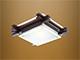 Mentavill Edison, mennyezeti fa keretes lámpatest (E27) wenge (fekete)